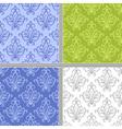 Damask ethnic textile pattern vector image