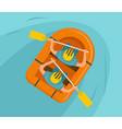 double rafting background flat style vector image