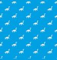elasmosaurine dinosaur pattern seamless blue vector image vector image