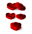 emtly heart shape box with ribbon vector image