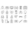 endocrinologist doctor icons set outline style vector image vector image