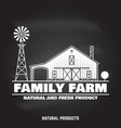 family farm badges or labels vector image vector image