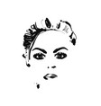 female face fashion sketch vector image