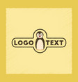 flat shading style icon penguin logo vector image vector image