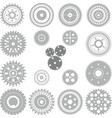gear and cogwheel collection vector image vector image