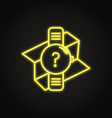 gps watch icon in neon line style vector image vector image