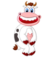 Happy cow cartoon vector image