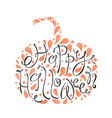 Happy Halloween text Hand drawn sketch Beautiful vector image vector image
