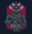 head hunter mascot logo design vector image