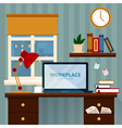 Home Workspace Modern Home Office vector image vector image