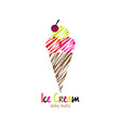 ice cream home made vector image vector image