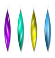 icicles christmas tree toys vector image vector image
