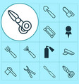 instrument icons set collection of turn screw vector image vector image