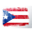 isolated flag puerto rico in grunge style vector image vector image