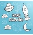 kid drawing set vector image