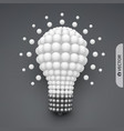 lightbulb idea concept 3d vector image