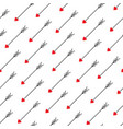 love arrows seamless pattern vector image vector image