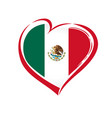 love mexico emblem colored vector image