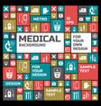 Medical design background vector image