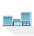 modern hospital building facade with glass wall vector image