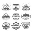 mountains set of monochrome vintage badges vector image vector image