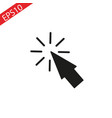 mouse arrow icon computer mouse arrow icon vector image