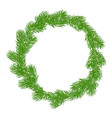 natural christmas wreath vector image vector image