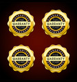 one year to five years warranty golden badges set vector image