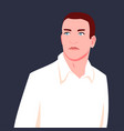 portrait a man in a shirt looking to side vector image vector image