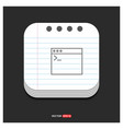 programming code icon gray icon on notepad style vector image