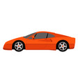 red sport car profile vector image vector image