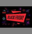 ribbon banner with text black friday vector image vector image
