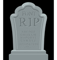 RIP font Ancient carved on tombstone of ABC Tomb vector image vector image