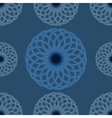 Seamless pattern Blue floral design and background vector image vector image