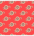 seamless pattern with curls and swirls vector image