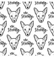 seamless pattern with dogs wrapping paper or vector image vector image