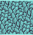 seamless pattern with leaves made in graphic style vector image vector image