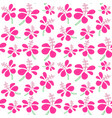 seamless pattern with tropical flowers background vector image vector image