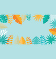 simple tropical palm and motstera leaves natural vector image