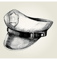 Sketch of a police cap vector image