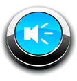 Sound 3d round button vector image vector image