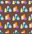 special magic seamless pattern magician fantasy vector image vector image