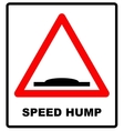 Speed bumps warning of traffic signs vector image vector image