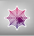spider on web purple vector image vector image