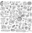 Spring insects - doodles collection vector image vector image