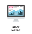 stock market icon concept vector image