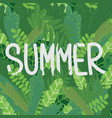 summer leaves poster vector image vector image