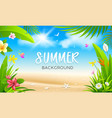 summer tropical green leaf and colorful vector image vector image