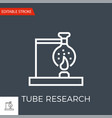 tube research icon vector image