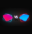 versus vs battle isolated red vector image